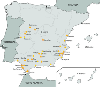 First Spanish Republic - The Cantonal Revolution spread through southern and central Spain, but the traditionalist pro-Carlist northern regions of Catalonia, Aragon and the Basque Country were involved in the Third Carlist War.