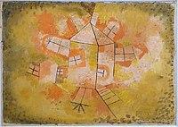 Revolving House by Paul Klee, 1921 AD, gouache on cheesecloth on paper - Museo Nacional Centro de Arte Reina Sofía - DSC08792.JPG