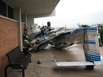 Embry-Riddle aircraft destroyed by the Christmas Day tornado.