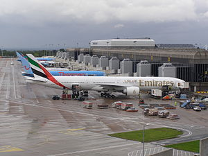 International air travel from the United Kingdom - Manchester Airport serves more international passengers than the likes of LAX and Shanghai Pudong International Airport