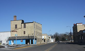 Ripon, Wisconsin - Looking north in downtown Ripon