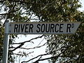 River source Rd sign, Waterloo.JPG