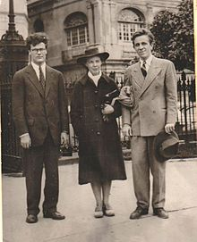 Robert Lowell, Jean Stafford, and Peter Taylor in 1941. Photo by Robie Macauley.