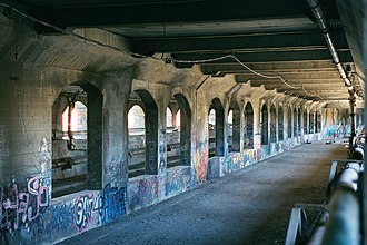 Rochester Subway - Former subway bed under Broad Street