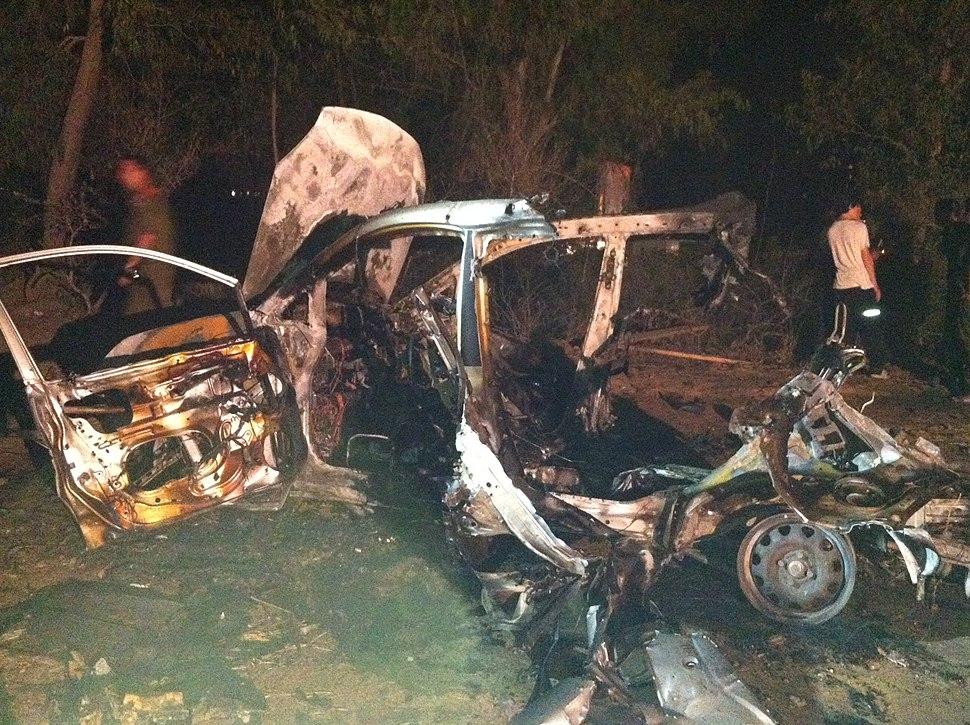 Rocket Fire Devastates Vehicle 4