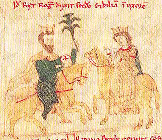 Sibylla of Burgundy - Sibylla with her husband.