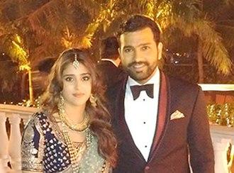 Rohit Sharma - Sharma and Ritika Sajdeh during their wedding event.