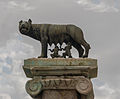 Roman She-wolf, Romulus, Remus, replica Capitole, Rome, Italy.jpg