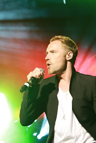 "Ronan Keating - Keating performing ""When You Say Nothing at All"" in August 2012"