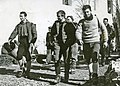 Ronchi, Redaelli, Sorgato al riento dopo la conquista della Cima Su Alto 1962.jpg