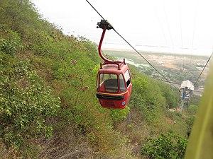 Kailasagiri - Image: Ropeway car at Kailasagiri