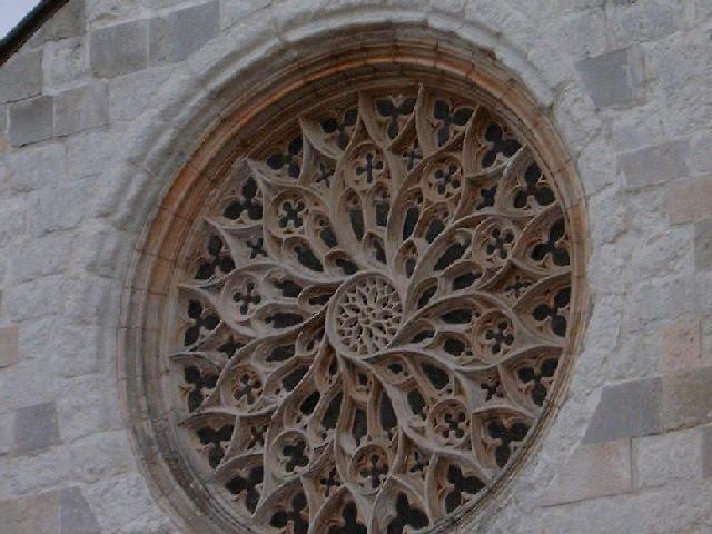 Rose-window in Graça Church in Santarém