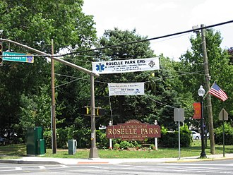 Roselle Park, New Jersey - Roselle Park Welcome Sign