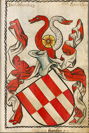 Philip I of Rosenberg -  Coat of arms of the von Rosenberg family, according to Scheibler's armorial