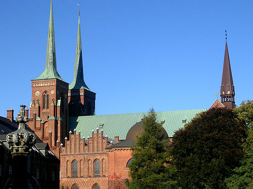 View from the south - Roskilde Cathedral