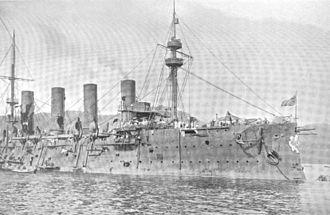 Russian cruiser Rossia - Image: Rossia Right Side Damage