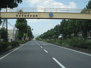 Japan National Route 407 road in Japan