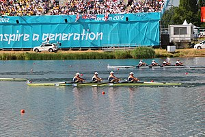 Frances Houghton - Houghton in the Quadruple scull at the 2012 Summer Olympics