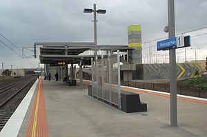 Roxburgh Park railway station - Southbound view in September 2007