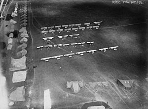 Netheravon Airfield - RFC aircraft and tents at Netheravon, June 1914