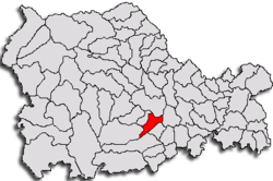 Location of Roznov, Neamţ