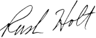 Rush Holt Jr. - Image: Rush holt signature