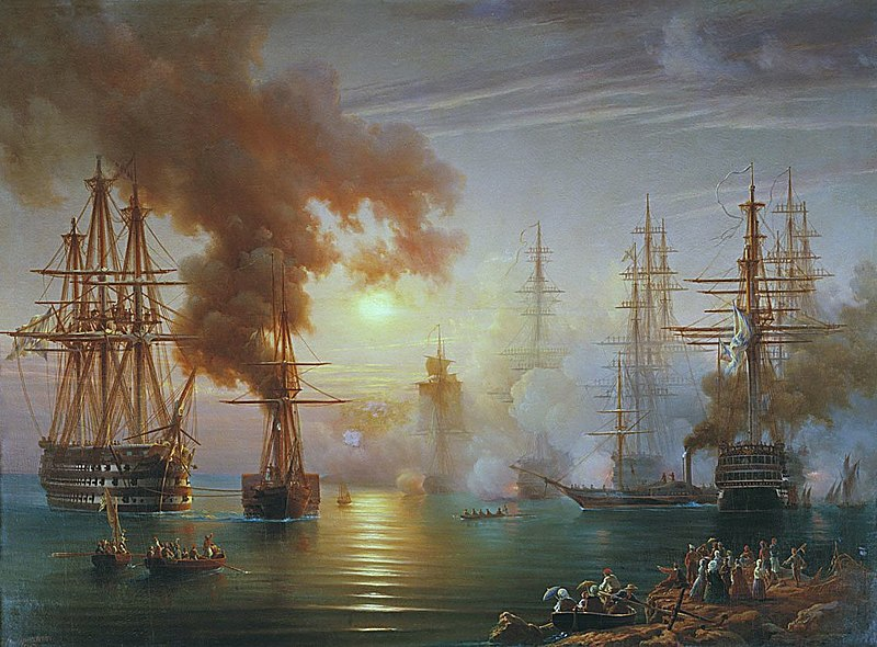 File:Russian Black Sea Fleet after the battle of Synope 1853 .jpg