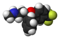 Spacefill model of fluoxetine (3S)