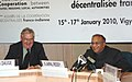 "S. Jaipal Reddy and the Mayor of Paris, Mr. Bertrand Delanoe during the Joint Press Conference, at the inauguration of the first ""Indo French Seminar on Cooperation between States, Regions and Local Authorities"".jpg"