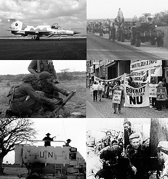 South African Border War - Image: SA Border War Montage 1