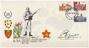 6 South African Infantry Battalion - SADF 6 SAI Commemorative letter