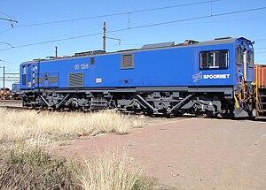 South African Class 10E2 - Image: SAR Class 10E2 10 124 Blue