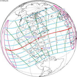 Solar eclipse of May 30, 1984 solar eclipse
