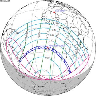 Solar eclipse of June 30, 1992 20th-century total solar eclipse