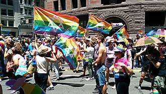 Homosexuality and Judaism - Jewish marchers at San Francisco Pride 2014