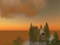 SL - ciel et château virtuels en fin de journée.png