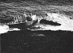 SS Pioneer Muse standed on Kitadaitōjima in 1961.jpg