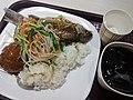 SZ 深圳 Shenzhen 福田 Futian 福民路 Fumin Road fast food restaurant food 鯪魚 fish 芽菜 vegetable 獅子球 meat ball June 2017 Lnv2 03.jpg