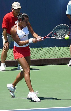 Stéphanie Foretz Gacon At The 2009 Bank of the West Classic