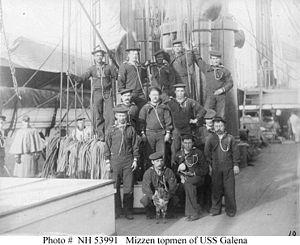 Sailors of USS Galena circa 1880s