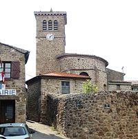Saint-Jeure d'Ay église clocher.jpg