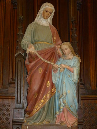 Saint Anne - Saint Anne with Mary as a child.