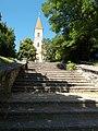 Saint Ladislaus church lower stairs in Veszprém, 2016 Hungary.jpg