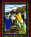 Saint Matthew the Apostle Church (Gahanna, Ohio) - stained glass, Angel with the women at the tomb - detail, The Way of the Cross.JPG