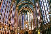 Saint Louis' Sainte Chapelle represents the French impact on religious architecture.