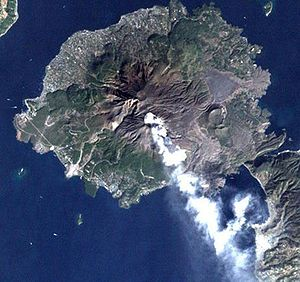 桜島を立体地図・地形図