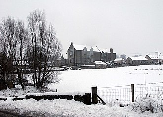 """Saline, Fife - Saline Primary School and its """"Sitooterie"""" in the snow"""