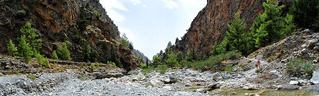 Blick in die Samari-Schlucht (UNESCO-Biosphärenreservat auf Kreta). Samaria Gorge