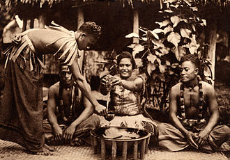 Samoa 'ava ceremony - Image: Samoan 'ava ceremony, c. 1900 1930 unknown photographer
