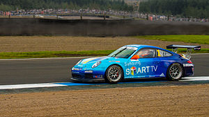 2013 Porsche Carrera Cup Great Britain - Champion Michael Meadows driving for Samsung Smart Motorsport at Knockhill.